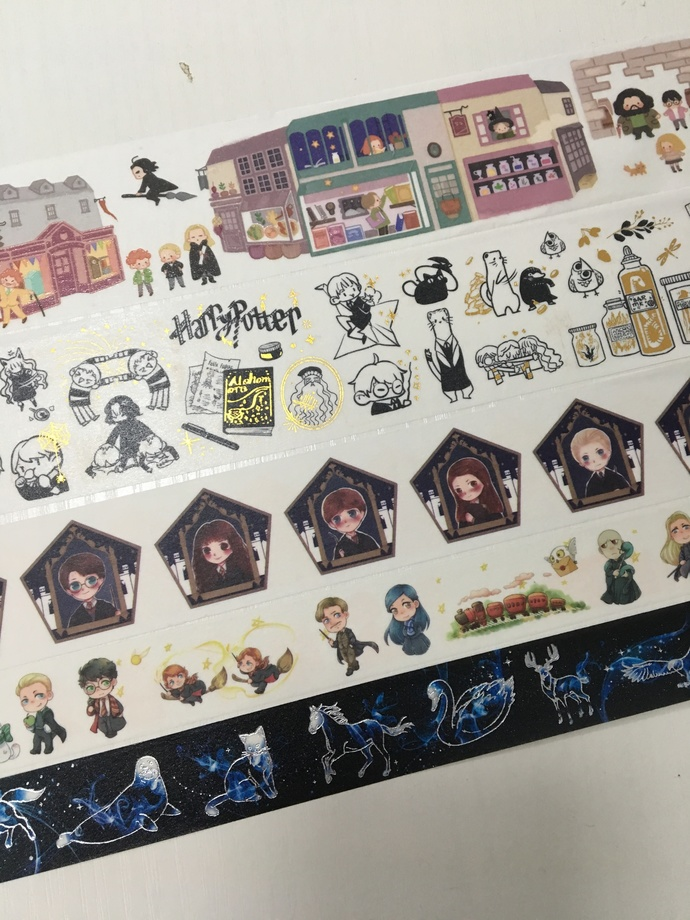 SAMPLE: 5 Designs of Harry Potter Limited Edition Washi Tape (1m each)