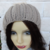 Hand Knitted Women's Camel Coloured Winter Hat With A Cream Faux Fur Pom Pom -
