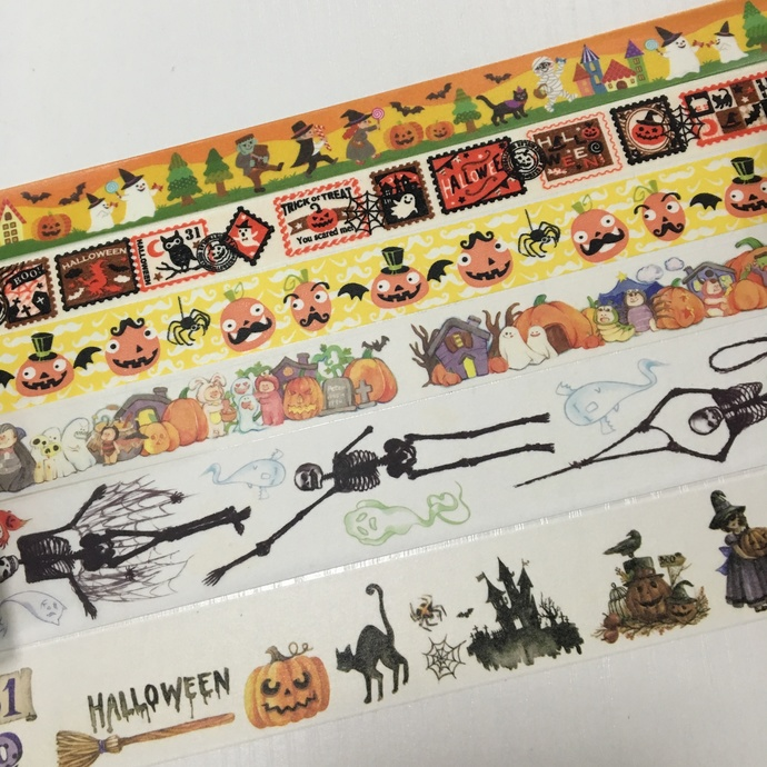 SAMPLE: 6 Designs of Halloween Theme Limited Edition Washi Tape (1m each)