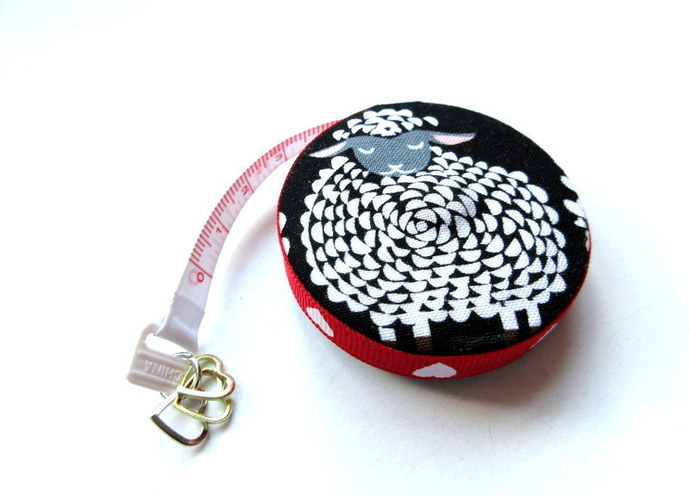 Tape Measure Heart Sheep Small Retractable Measuring Tape