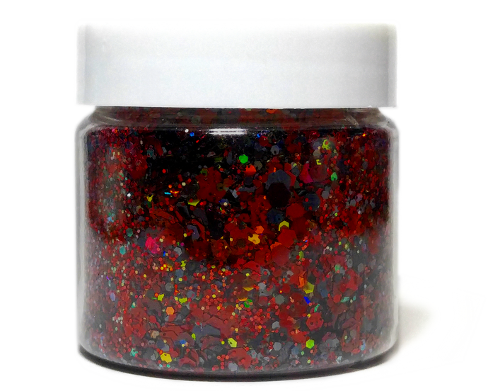 Day Walker - Red & Black Halloween Holographic Loose Cosmetic & Craft Glitter