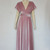Infinity velvet dress Dusty pink bridesmaid gown Plus size evening dress
