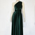 Green velvet dress Infinity bridesmaid gown Plus size formal dress Maternity