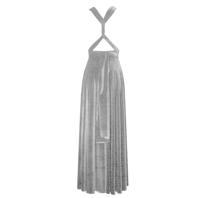 Silver gray velvet dress Wedding Gown Infinity bridesmaids dress Plus size