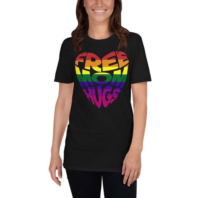 Free mom hugs t-shirt LGBT, Womens Free Mom Hugs Shirt Gay Pride Gift