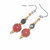 Dangle Earrings beaded in Copper Canyon and Gold colors, with smooth, round