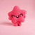 TINY TOY - Pink Star, miniature plush toy, handmade art toy, needle felted star,