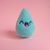 TINY TOY - Happy Tears Cloud Raindrop - blue, needle felted Art Toy, miniature