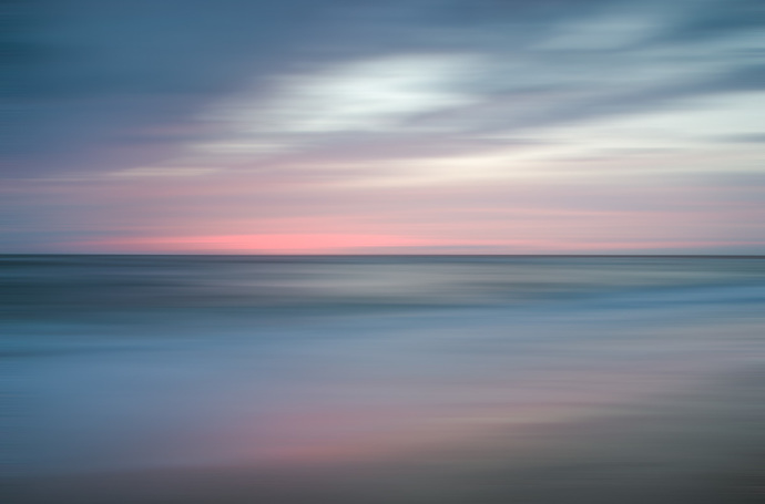 The Colors of Evening on the Beach - Coastal Landscape Photograph Wall Art