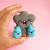 Tiny Toy - Grey Cloud and Raindrop friends, needle felted miniature toy, cute