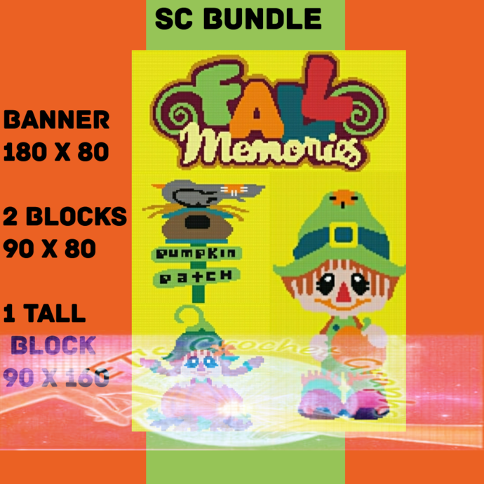 Fall Memories Bundle 4 Patterns SC includes Graph with Written Charts