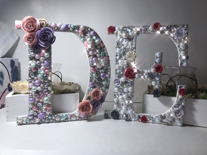 8 Inch Custom BLING letters, wedding, home or party decor!