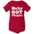 Funny Sayings Baby Onesie - BABY GOT THIGHS