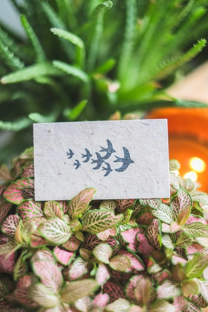 London Gifties x Petra original design wooden stamp - Flock of Birdies - 3 x 3
