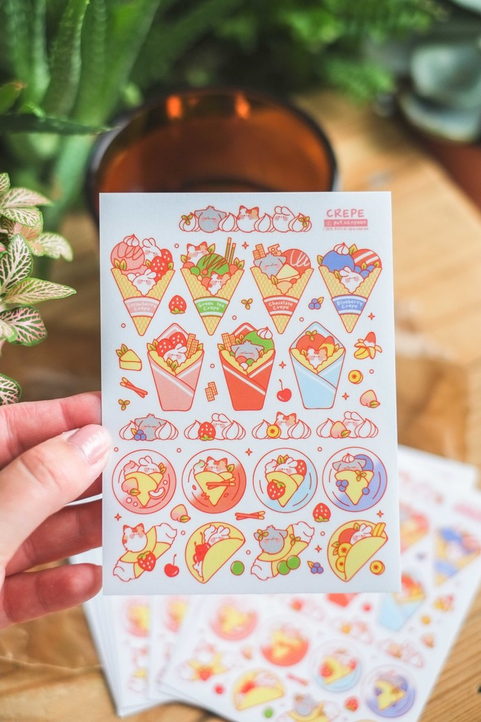 Put So Nyeon cute sticker sheets - Crepe