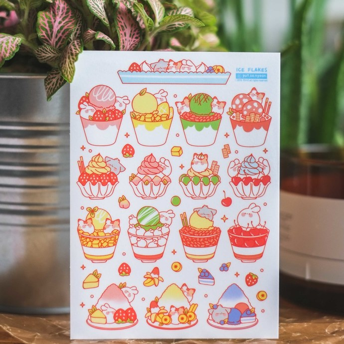 Put So Nyeon cute sticker sheets - Ice Flakes