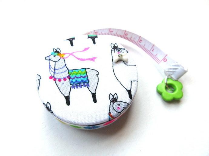 Tape Measure Party Alpacas Llamas Small Retractable Measuring Tape