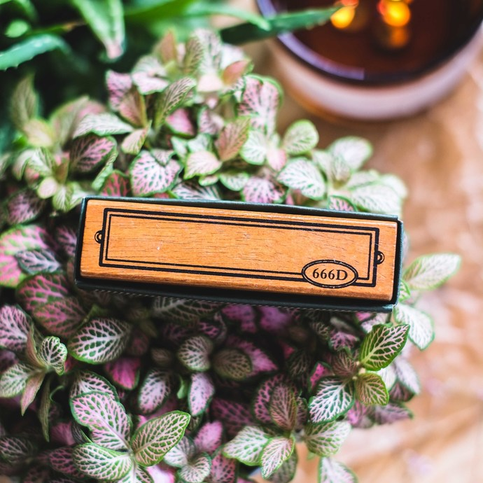 Fun & Joy wooden stamp in a cardboard box - Frame - 2.5 x 10 cm