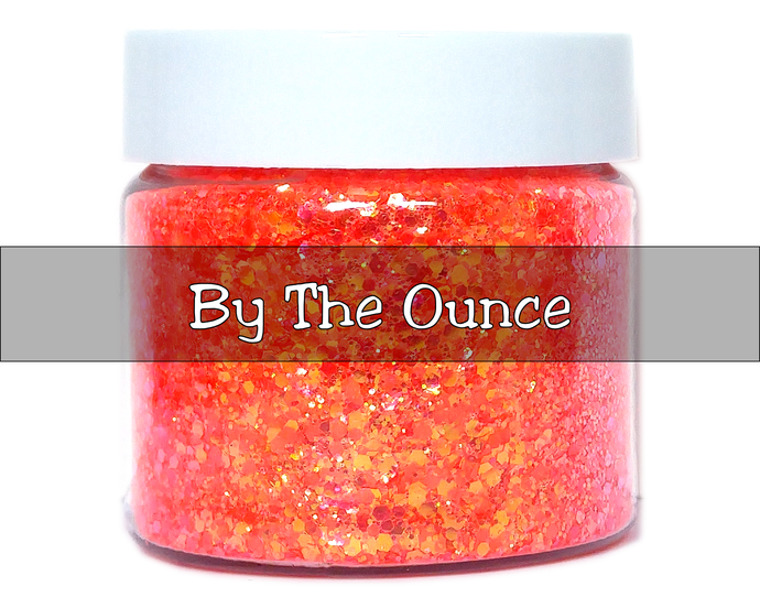Sundown - Orange Color Shifting, Loose Cosmetic & Craft Chunky Glitter Mix