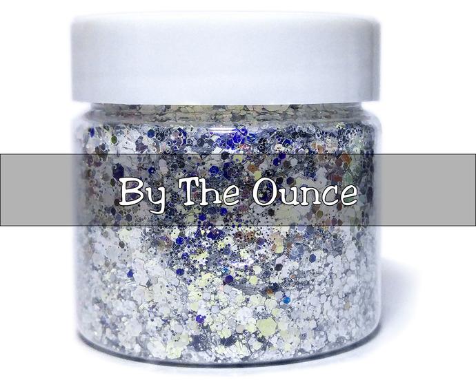 Silver Bells - Loose Silver Iridescent & Metallic Chunky Glitter Mix
