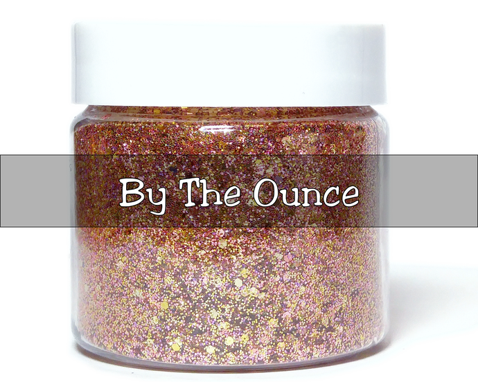 Rose Gold Reflections - Metallic Chunky Loose Glitter Mix For Cosmetic and Craft