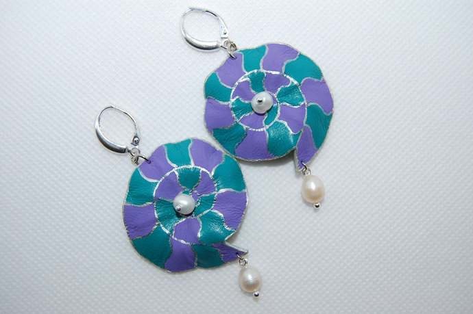 "Earrings ""Nautilus"" 1"