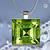 Pendant Necklace Birthstone, August Peridot (light green)