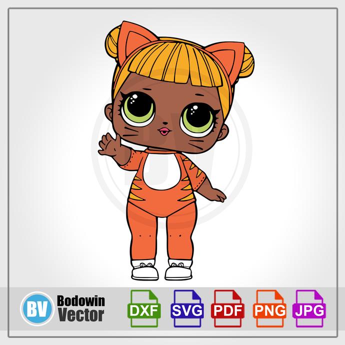 Doll SVG / Instant Download / Digital Clipart / Cutting Files / Cricut /