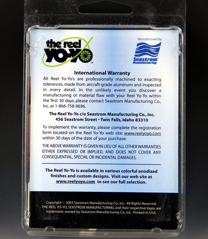"Rare Seastrom ""The Reel"" Yo-Yo ... New in Box"