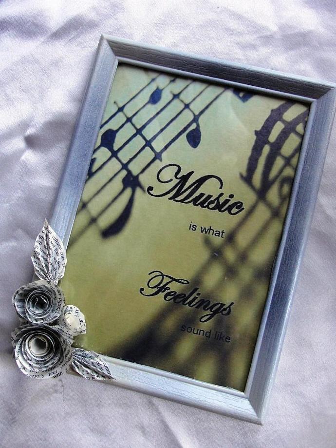 Music Sentiments Framed Print