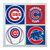 Chicago Cubs Coasters - set of 4 tile coasters - MLB, baseball, league, ball,