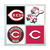 Cincinnati Reds Coasters - set of 4 tile coasters - MLB, baseball, league, ball,