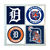 Detroit Tigers Coasters - set of 4 tile coasters - MLB, baseball, league, ball,