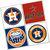 Houston Astros Coasters - set of 4 tile coasters - MLB, baseball, league, ball,