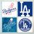 LA Dodgers Coasters - set of 4 tile coasters - MLB, baseball, league, ball,