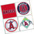 LA Angels Coasters - set of 4 tile coasters - MLB, baseball, league, ball, logo,