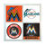 Miami Marlins Coasters - set of 4 tile coasters - MLB, baseball, league, ball,