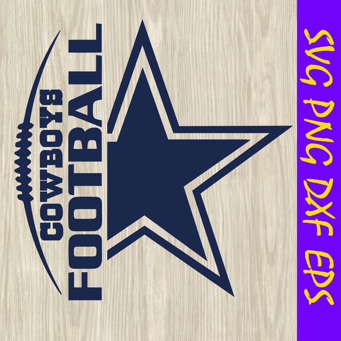 Cowboys football svg, star svg