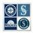 Seattle Mariners Coasters - set of 4 tile coasters - MLB, baseball, league,