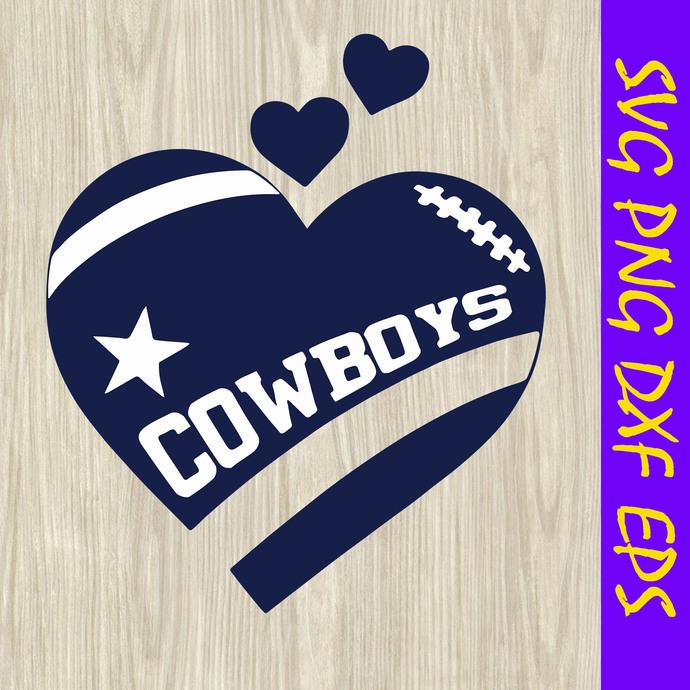 Cowboys football svg, cowboys heart svg