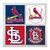 St Louis Cardinals Coasters - set of 4 tile coasters - MLB, baseball, league,