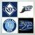 Tampa Bay Rays Coasters - set of 4 tile coasters - MLB, baseball, league, ball,