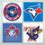 Toronto Blue Jays Coasters - set of 4 tile coasters - MLB, baseball, league,