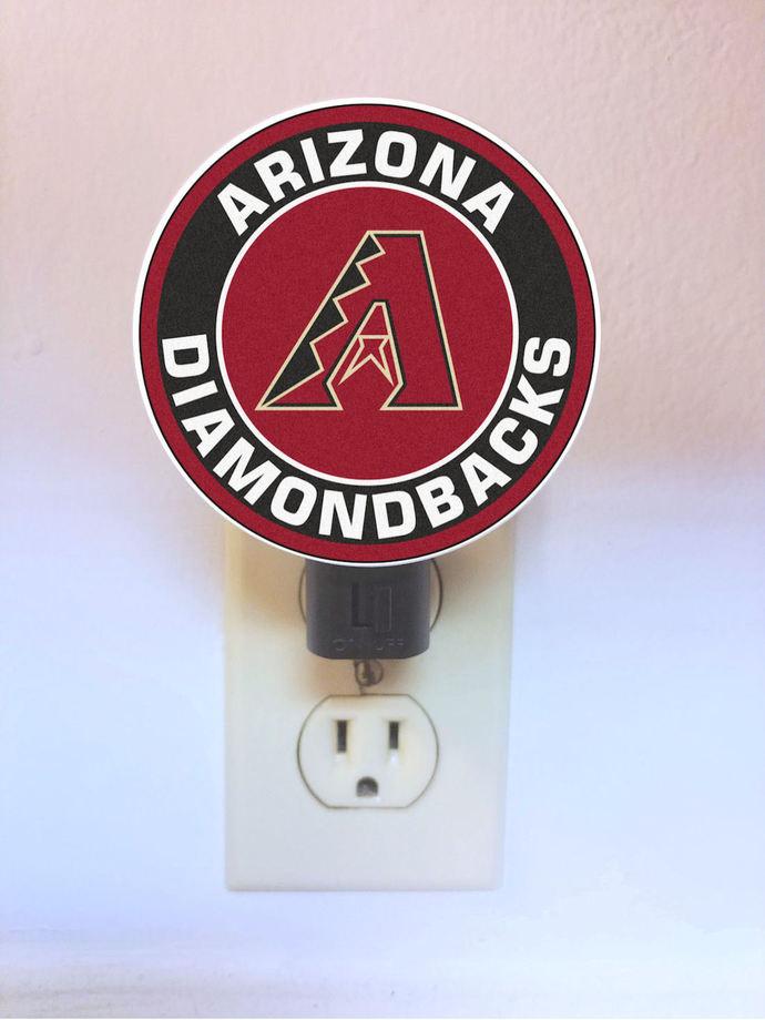 Arizona Diamondbacks Night Light - plug in light - lamp, LED, plugin, baseball