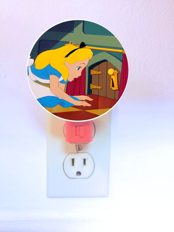 Alice in Wonderland Night Light - plug in light - lamp, LED, plugin, kids,