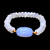 Natural Chalcedony Moonstone Beaded Stretchable Unisex Adjustable 7.50 Inches