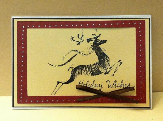 Reindeer Christmas Cards, set of 10