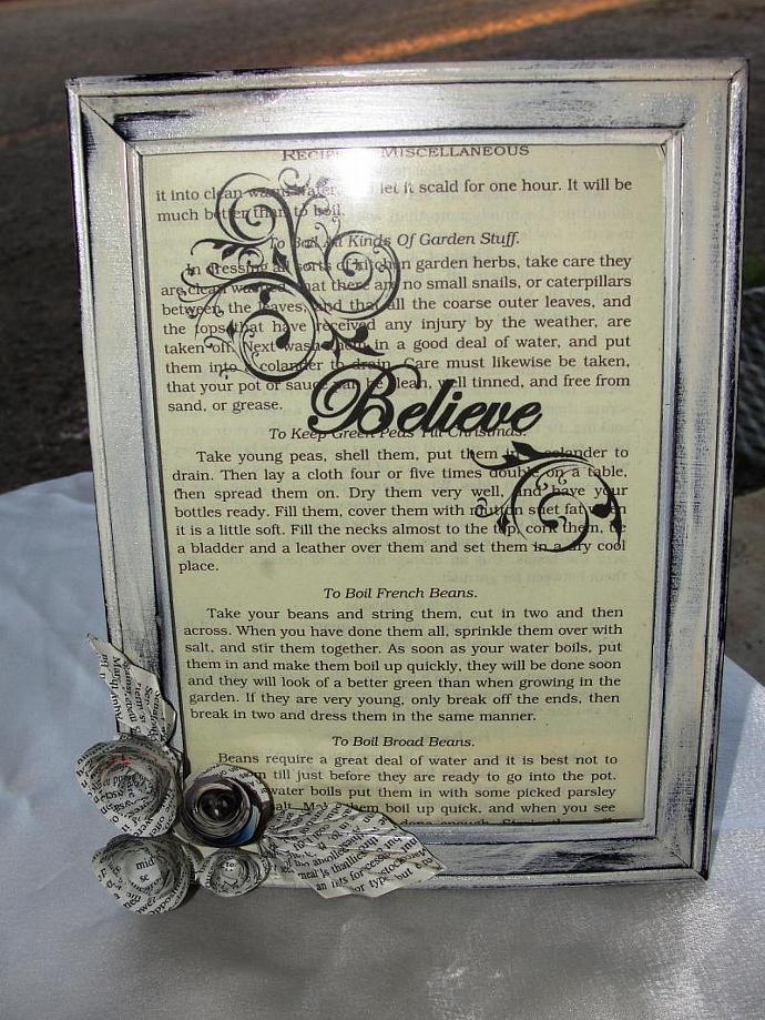 Shabby Vintage Believe Framed Print