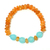 Natural Citrine Melon Chalcedony Beaded Stretchable Unisex Adjustable Bracelet