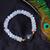 Rainbow Moonstone Labradorite Stretchable Silver Unisex Adjustable Bracelet